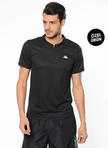Kappa Polo Slim Fit Unisex T-Shirt Siyah